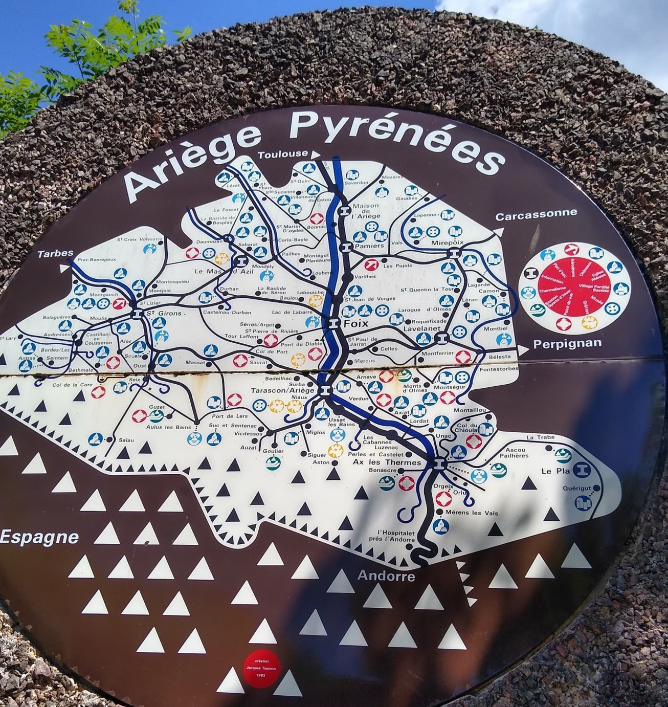 Map of the Ariege